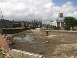 Empty canal