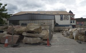 Huge rocks cover the yard at the Granite Factory in Bangor Road.