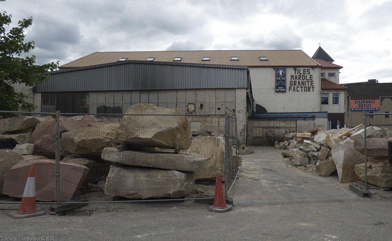 Huge rocks cover the yard at the Granite Factory in Bangor Road.