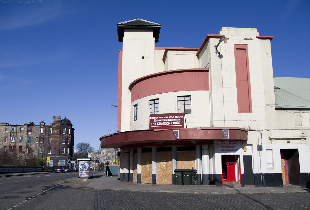 Once the State Cinema it's currently The Kingdom Church aka Edinburgh Miracle Temple. It's unknown whether any actual miracles have been achieved. If they had been then we'd have heard, surely?