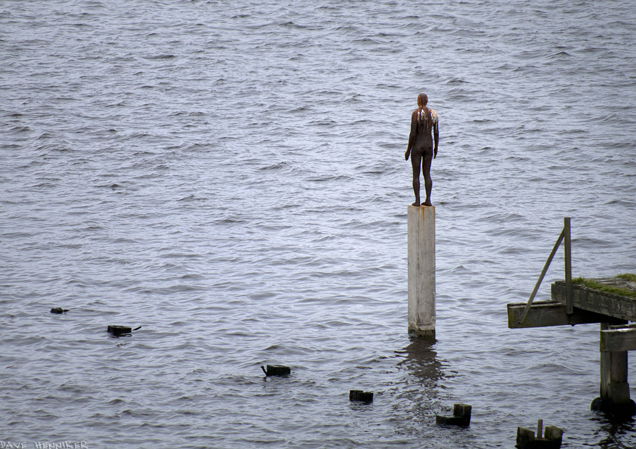 In this shot I virtually excluded the pier in order to try and get a sense of the figure looking out across the sea.
