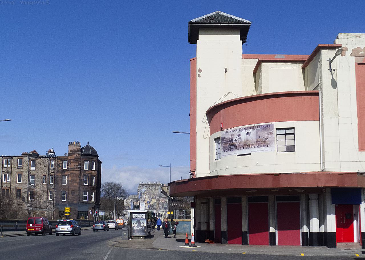 Just before Great Junction Street crosses the Water of Leith is the old cinema, currently in use as a church of sorts.