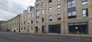 The nearer buildings are new to Great Junction Street.