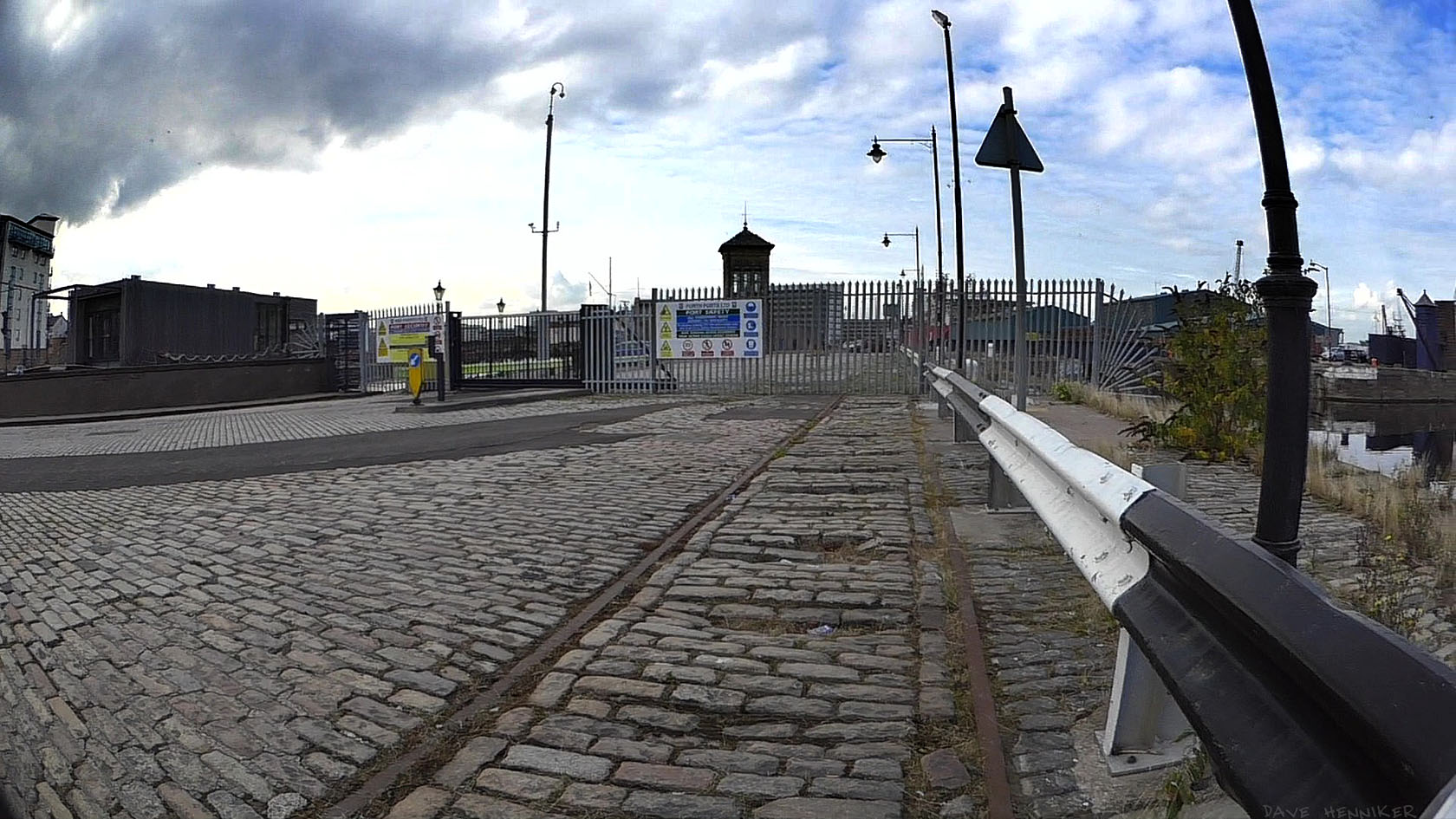 The public aren't allowed beyond the gate to Imperial Dock.