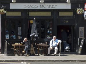 "A pub called Brass Monkey from the expression ""It's cold enough to freeze the balls off a brass monkey."""