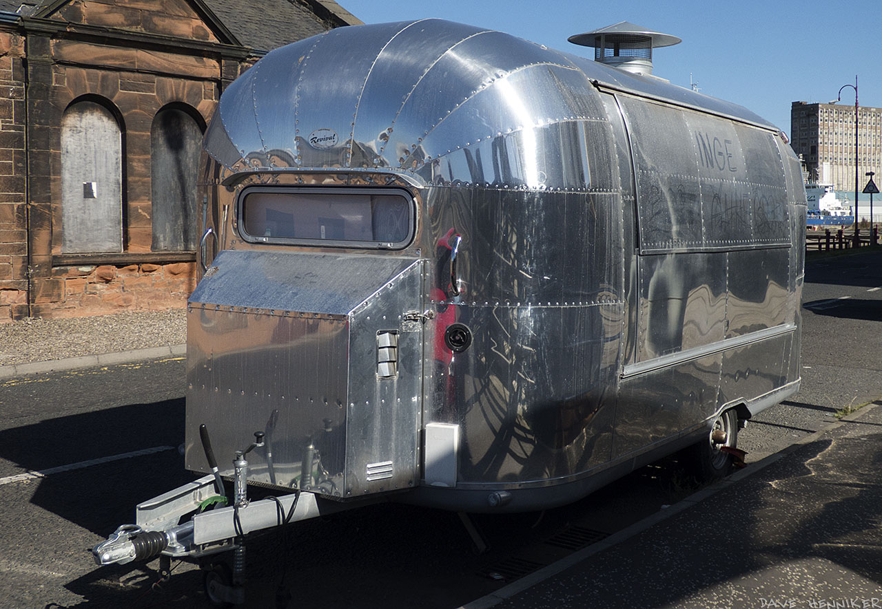 You don't normally see caravans like this in Scotland. I'm guessing that it serves hot snacks and isn't used for touring or sleeping in.