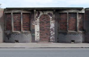 Preserved by additional brickwork and perhaps one day resurrected as a historic facade. Salamander Street connects Baltic Street to Seafield Road and runs east-west between Leith Links and Leith Docks.