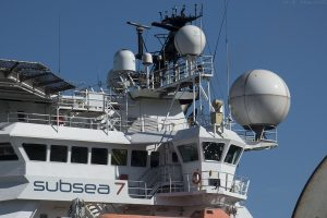 The spheres purpose is to protect the radar scanners which rotate inside.