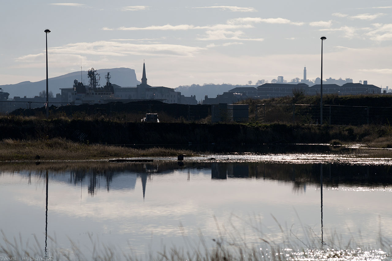 Salisbury Crags and Calton Hill form the backdrop.