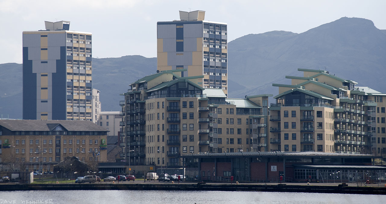 Arthur's Seat forms the backdrop for Citadel Court and Persevere Court.