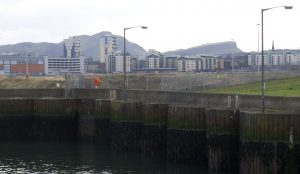 A wider view showing the waterside.