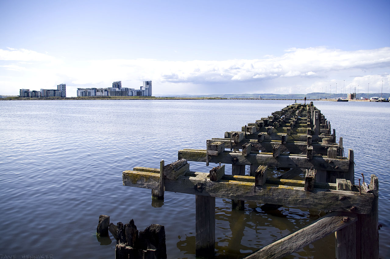 Not far from Royal Yacht Britannia is this dilapidated old wooden pier stretching into Western Harbour. The new homes bearing the same name are 1km away across the harbour.