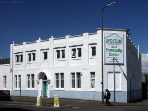 1 of 2 brick buildings that caught my eye in Annandale Street. This mosque has had an excellent paint job, enhanced by bright sunshine and the deep blue sky.