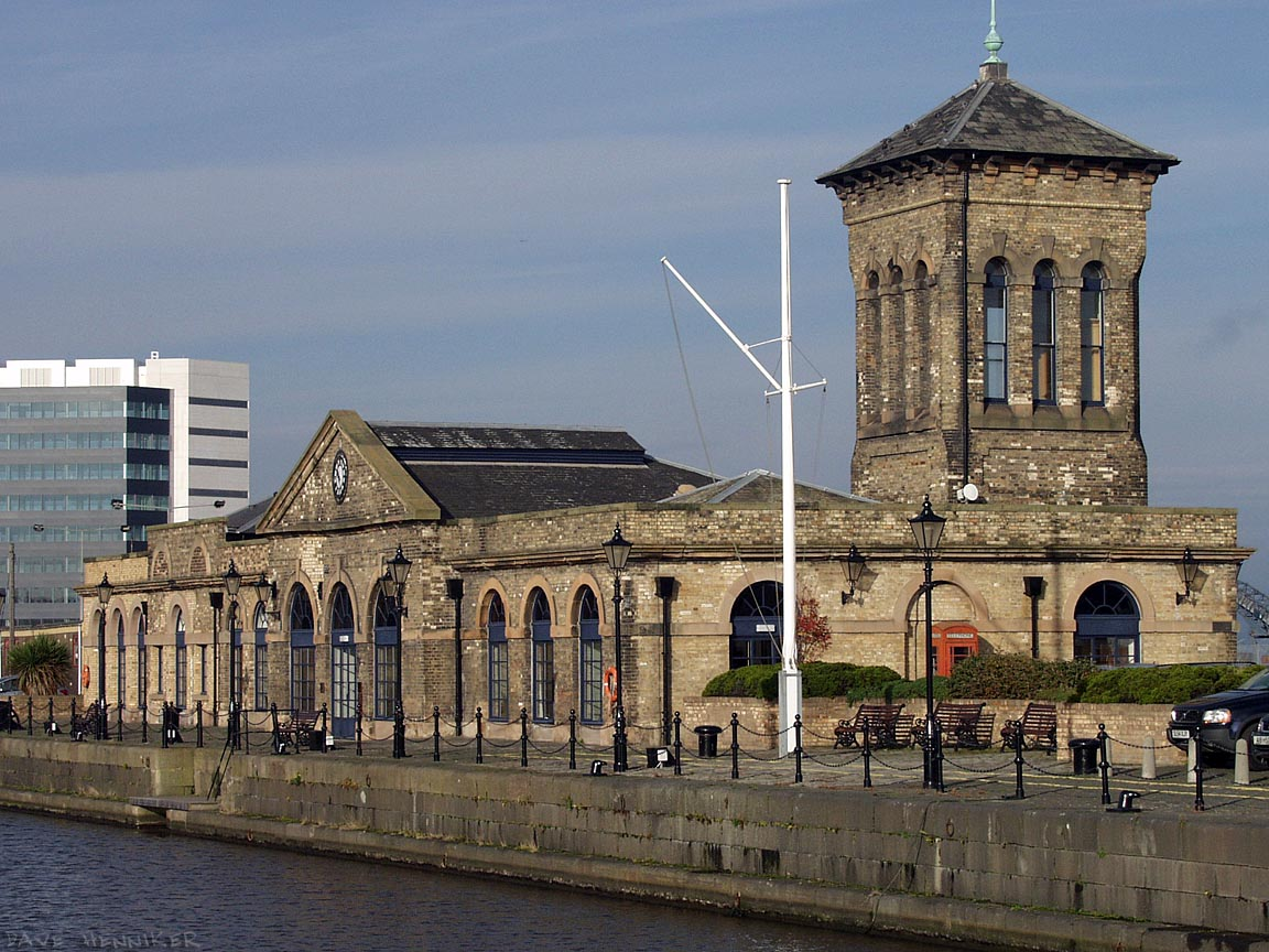 This enigmatic building overlooks the Albert Dock. To get anywhere near it, you have to pass through the locked gates at the entrance to Leith Docks. The gates are unmanned but there's a telephone and security system.
