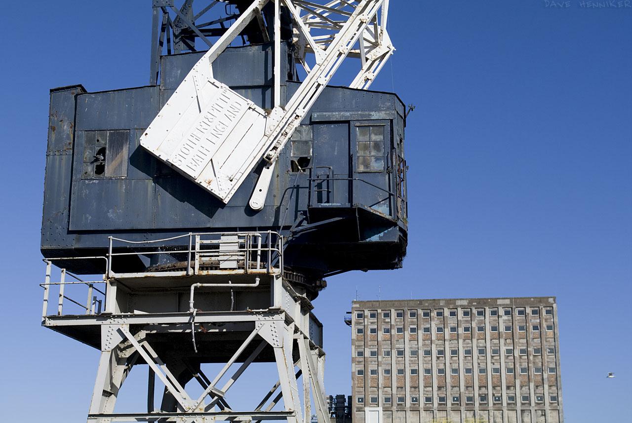 Heavy metal machinery on the edge of Albert Dock.