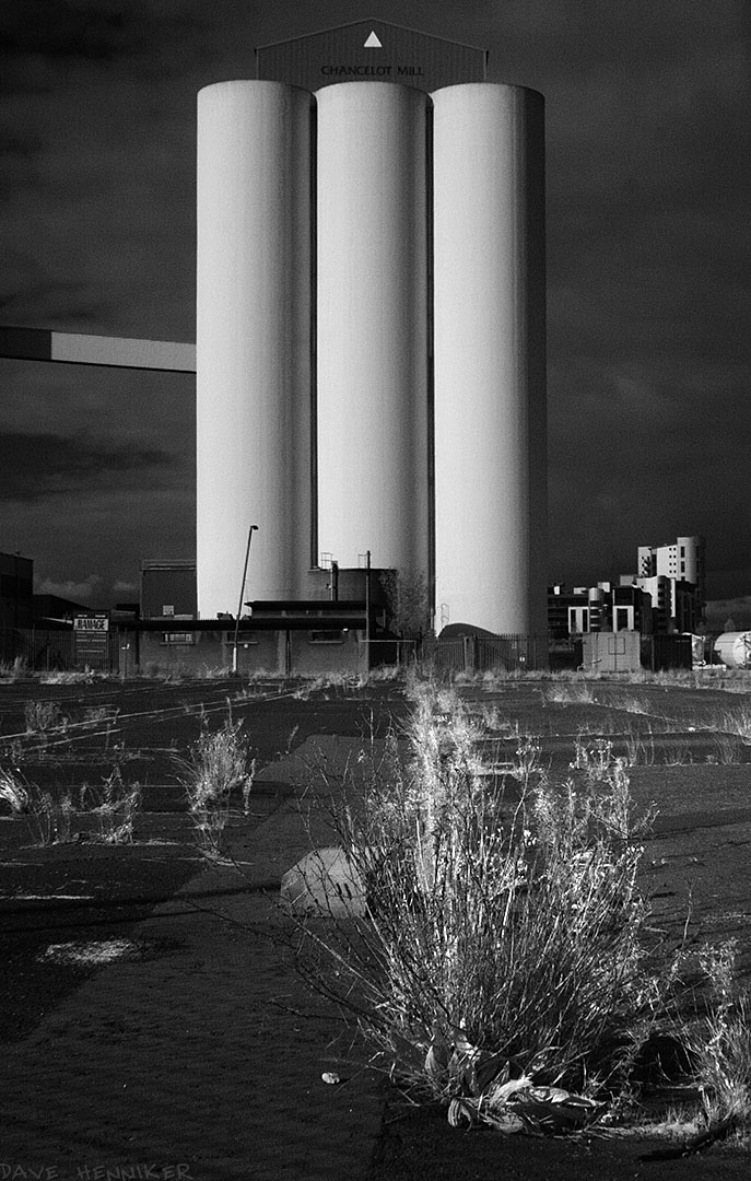 The same subject as the previous picture but the different standpoint and infrared image gives a rather different appearance, looking at first like three cigarettes sticking up in the air.