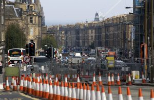 The roadworks in preparation for the trams' arrival inevitably causes traffic delays and lack of access, causing many businesses to suffer as shoppers go elsewhere.