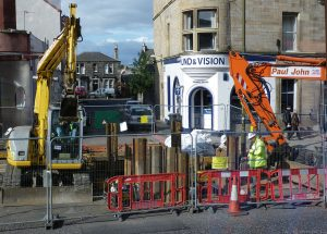 Another view of excavations further up Leith Walk.