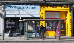 Different areas of Edinburgh have specialist shops. Gorgie/Dalry and Leith have tanning salons and tattoo parlours - and much more.