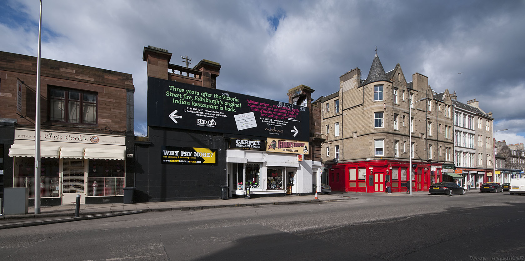At the other end of the building is Jane Street, next to the remains of a railway bridge which once crossed Leith Walk.