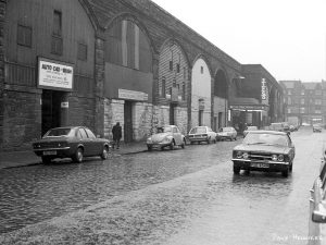This is how it used to look, back in 1978.  Update 2001 from Lee Kindness: '...(actually the photo is mainly of Gordon Street) and you mention that it's 'as it used to look' - well, after walking down there this morning (I live there) I can vouch that's basically how it looks now... crap bingo and all!'