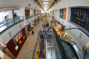 Ultrawide / fisheye lenses can capture dramatic persectives in this sort of shopping mall. Previously I took photos with a 1.2 megapixel Nikon Coolpix camera with a wide angle adapter.