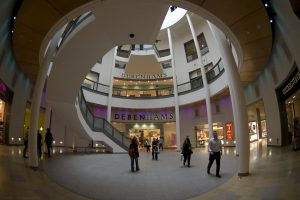 More fisheye views of the shopping mall...