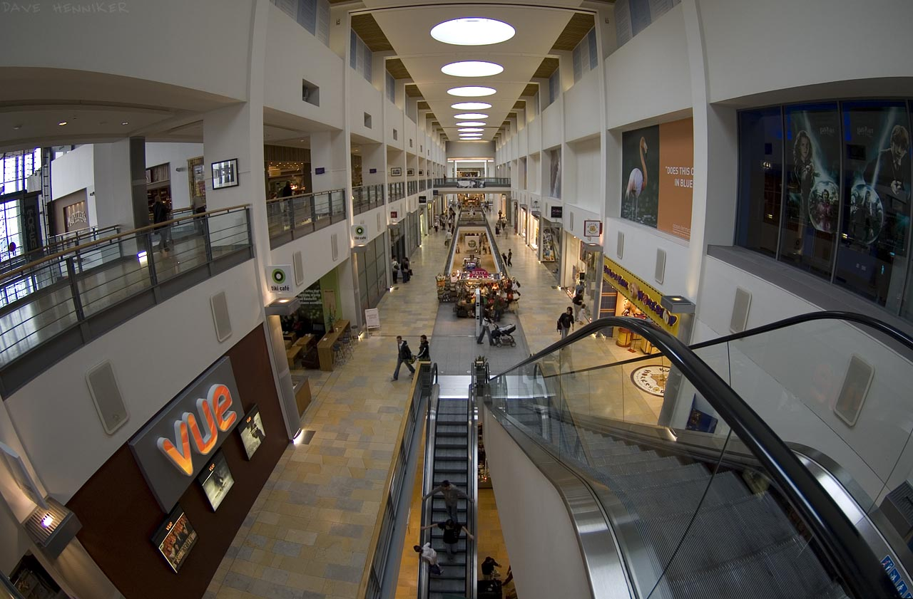 More fisheye views of the shopping mall...