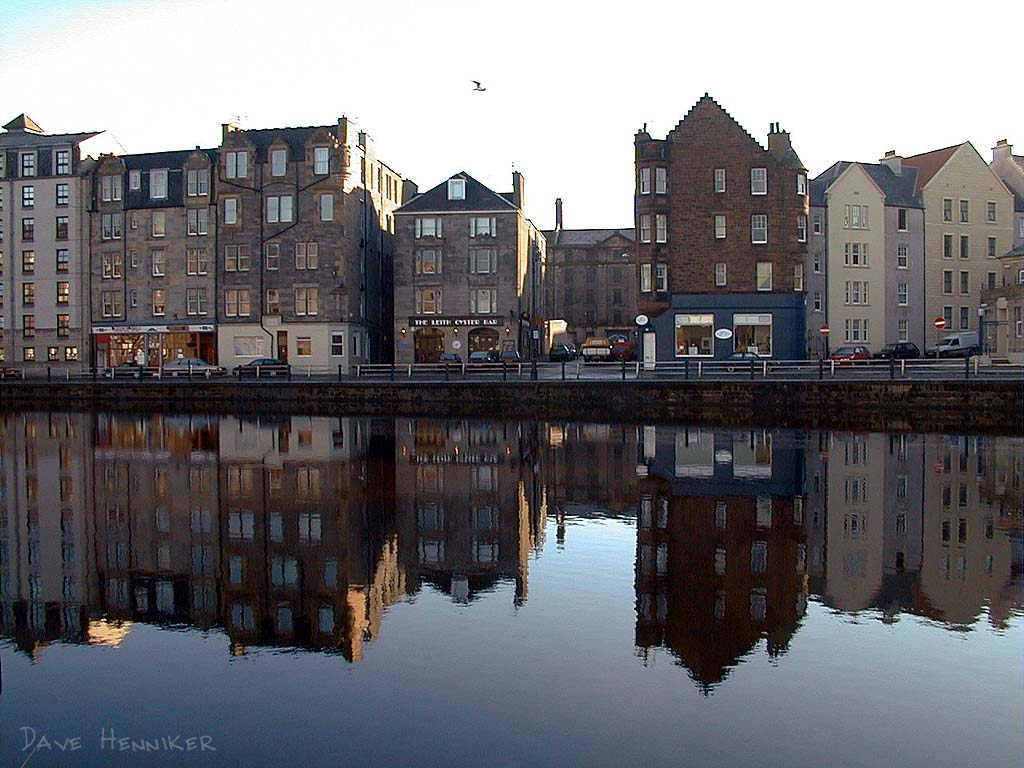 Oyster Bar is the name of the establishment across the river, the Water Of Leith. Looks vaguely Dutch...