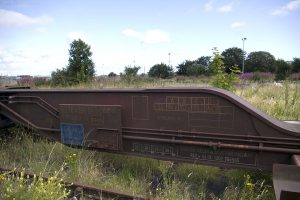 300m further east is this railway siding on the north side of Seafield Road. The wagon bears the legend English Welsh & Scottish Railway.