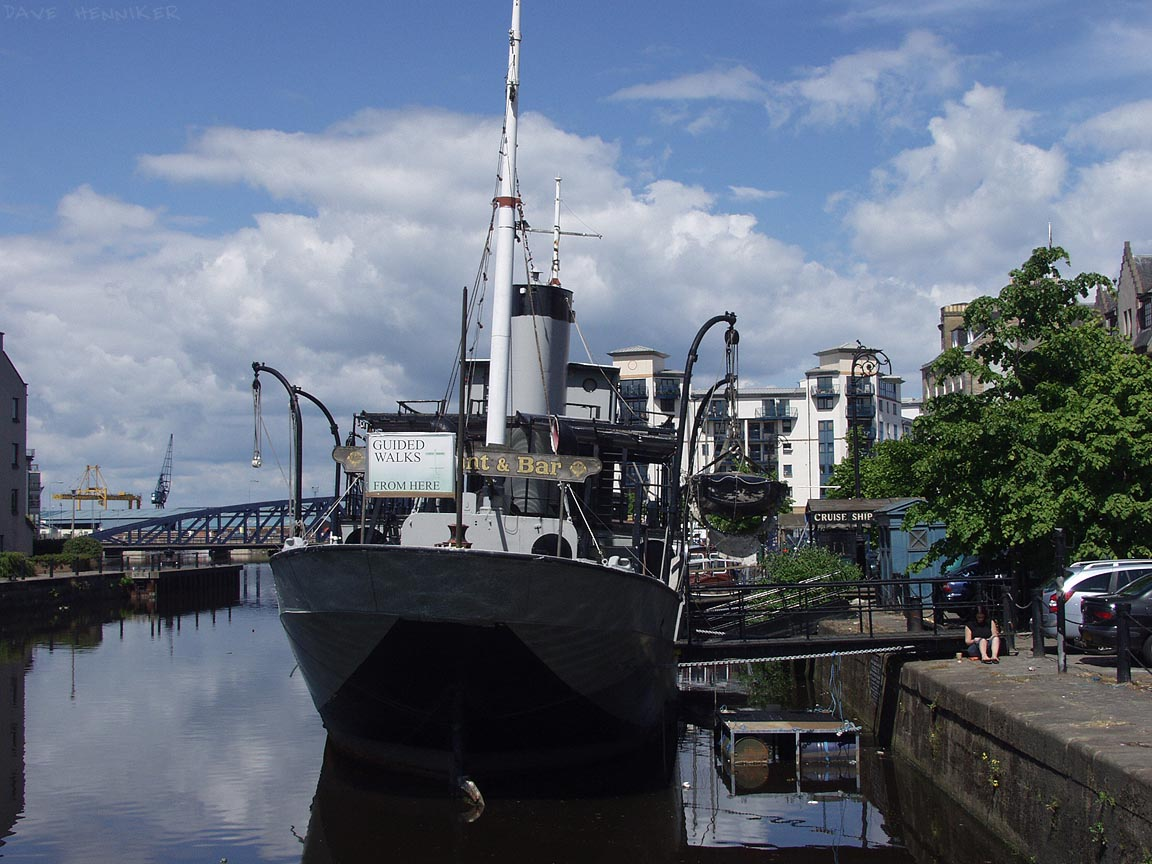 Parked at the quayside