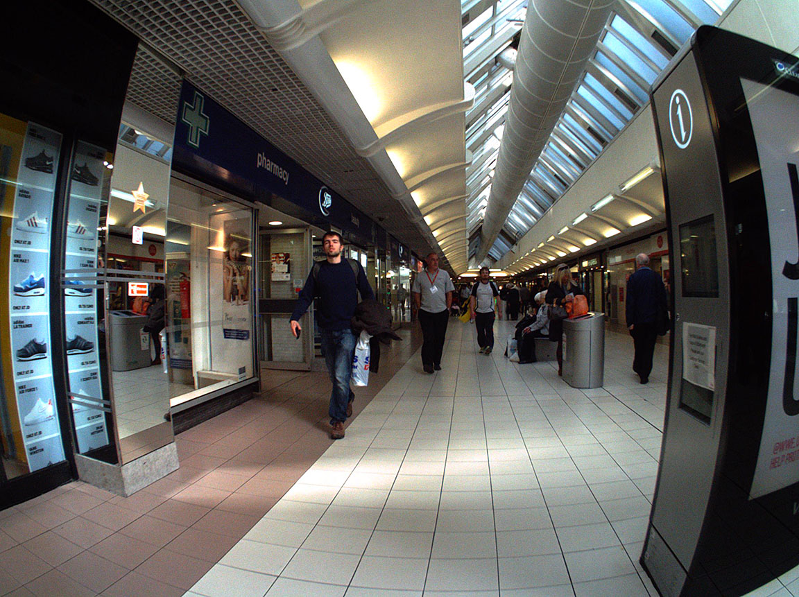An Autographer picture of the shopping mall near to Elder Street.
