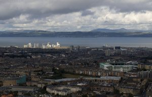 On several occasions whilst on Arthur's Seat or the Pentland Hills I've noticed Sunshine on Leith but not on Edinburgh. These pictures now seem topical due to the film. This photo September '09.
