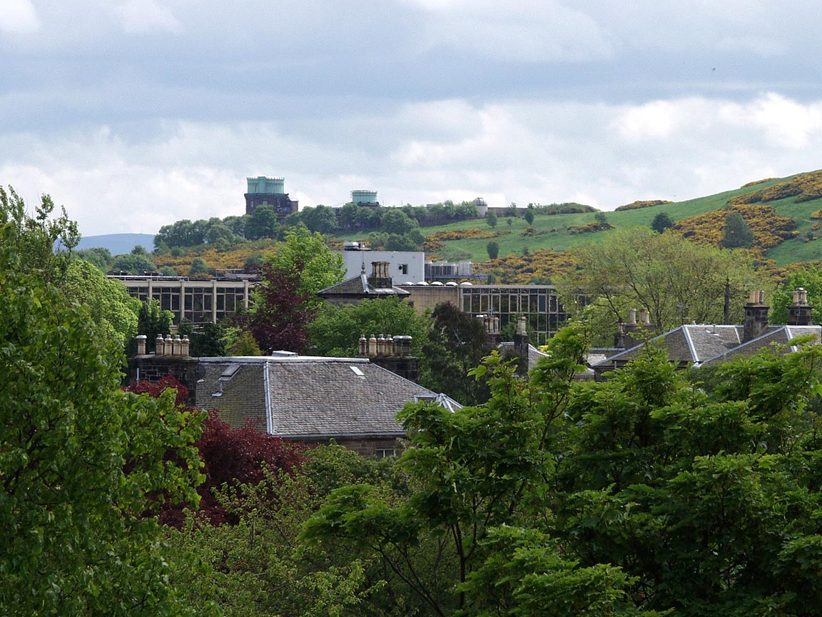Blackford Hill from rear window