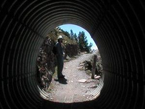 tunnel through landslide