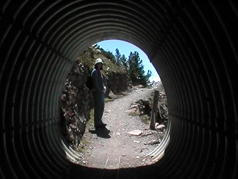 tunnel through landslide