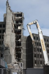 March 2017 and the demolition of the St James Centre continues.