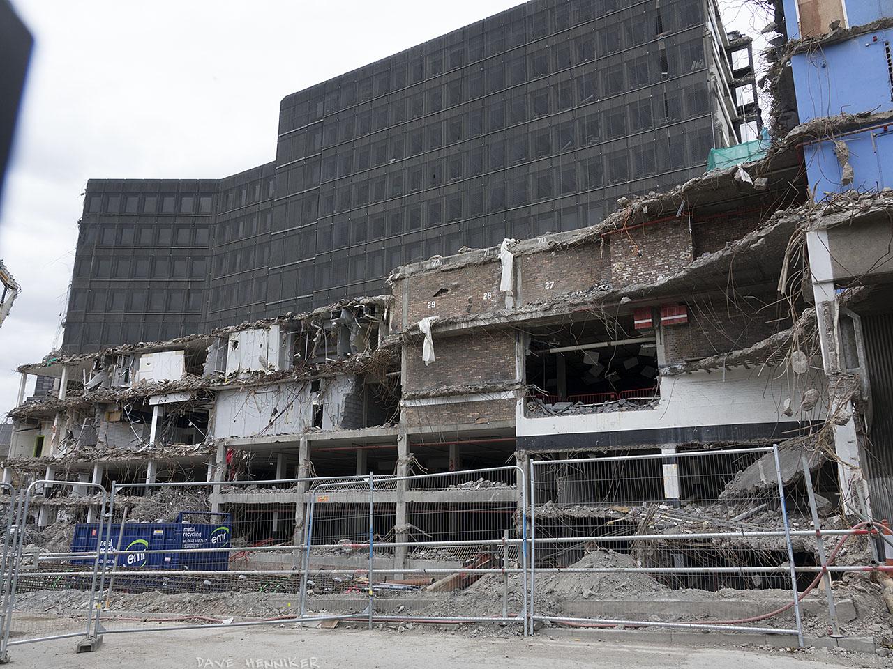 April 2017: Demolition continues at St James Centre