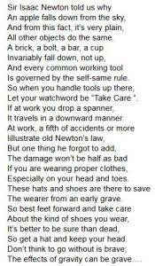 Gravity Poem
