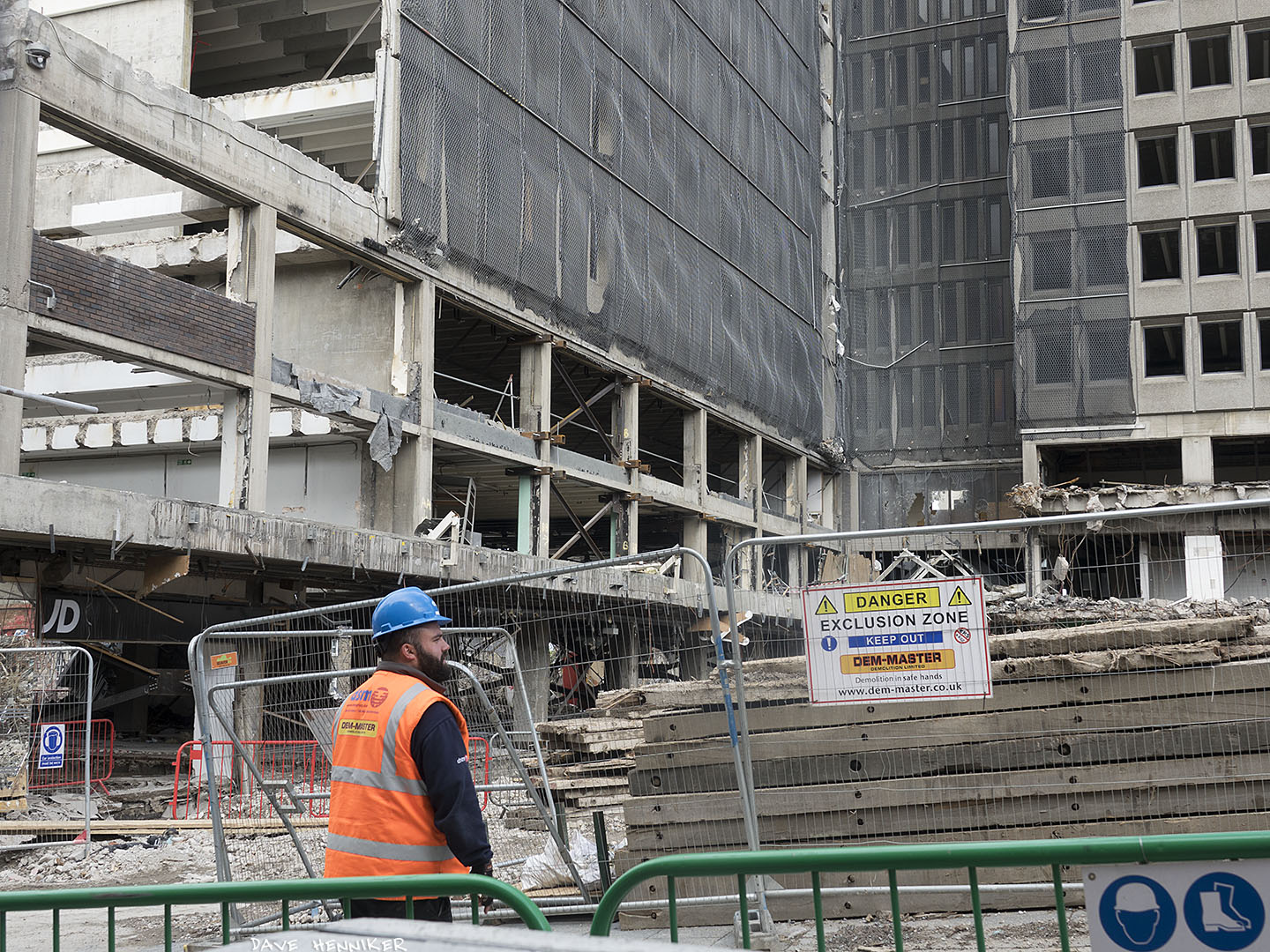 Demolition proceeds slowly at St James Centre
