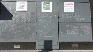 Protesting against the gentrification of Leith