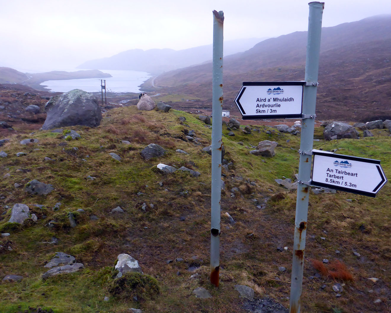 07 Loch Marig & sign to Tarbert