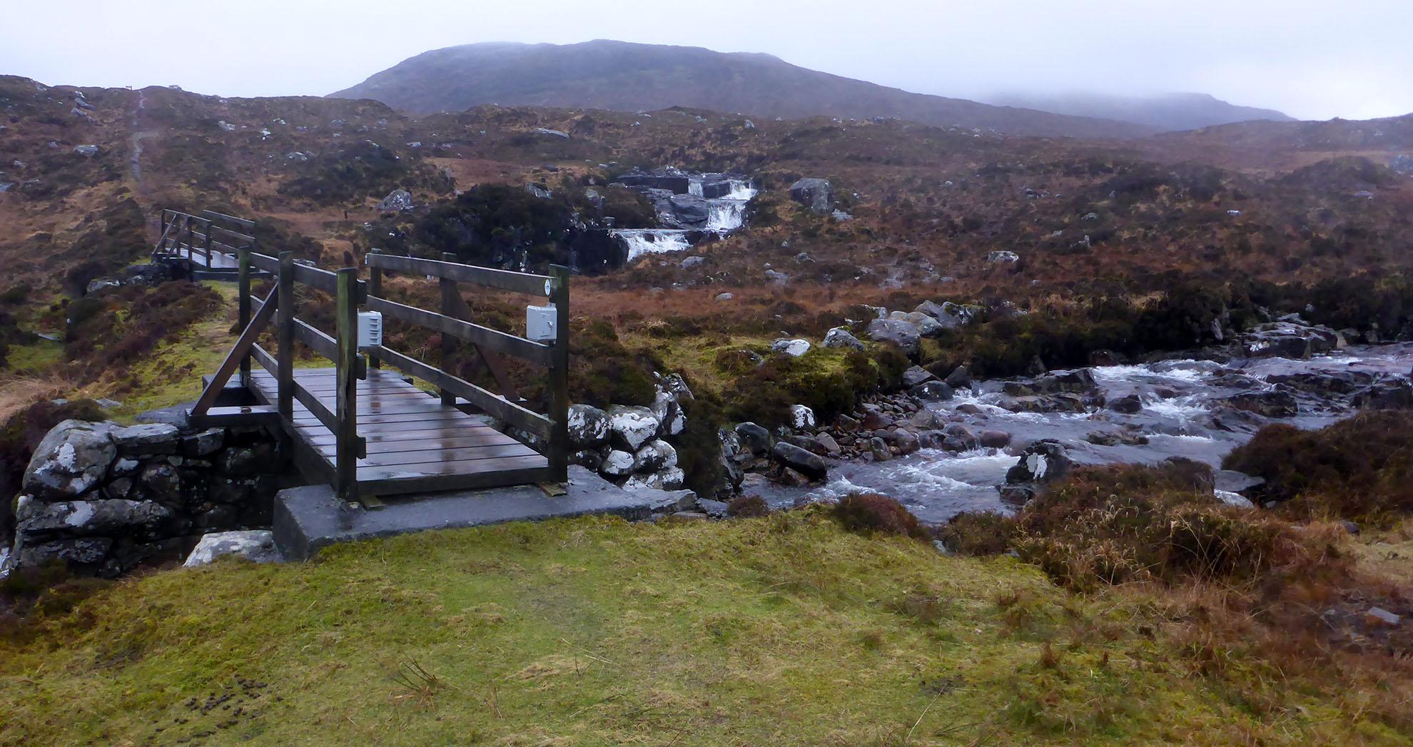 11 Pathway to Tarbert over Abhainn Mharaig