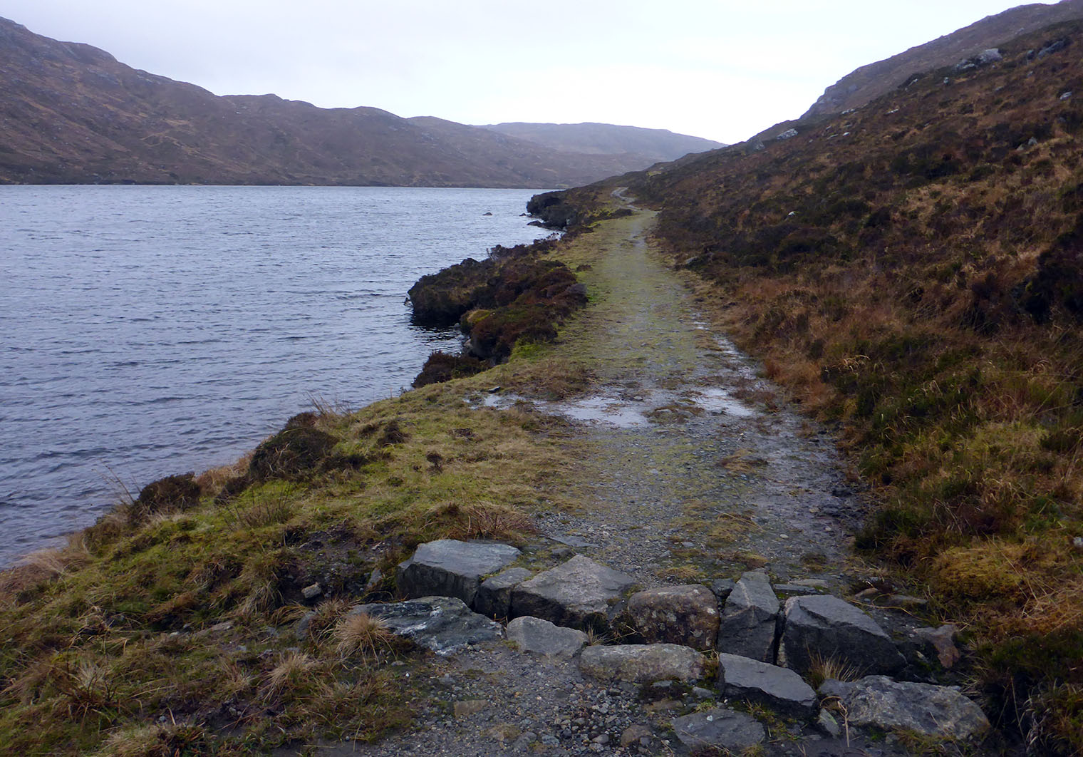 21 Old road to Tarbert looking south