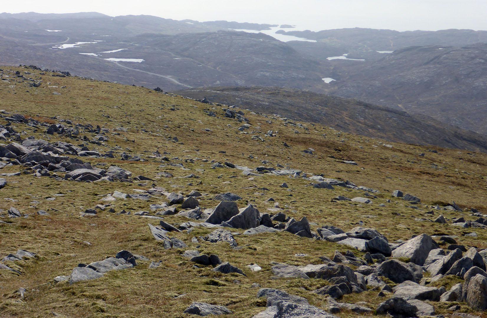96 Beinn Luskentyre, looking to lochs on the east