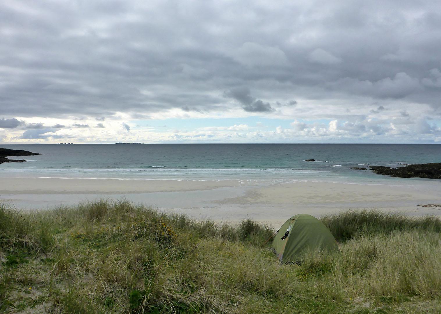 11 Tent in dunes, Stir Beach
