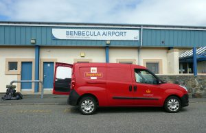 2 Benbecula airport waiting for bus