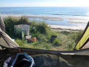 25 Dinner at tent, South Uist