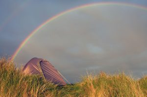 29 Rainbow over tent