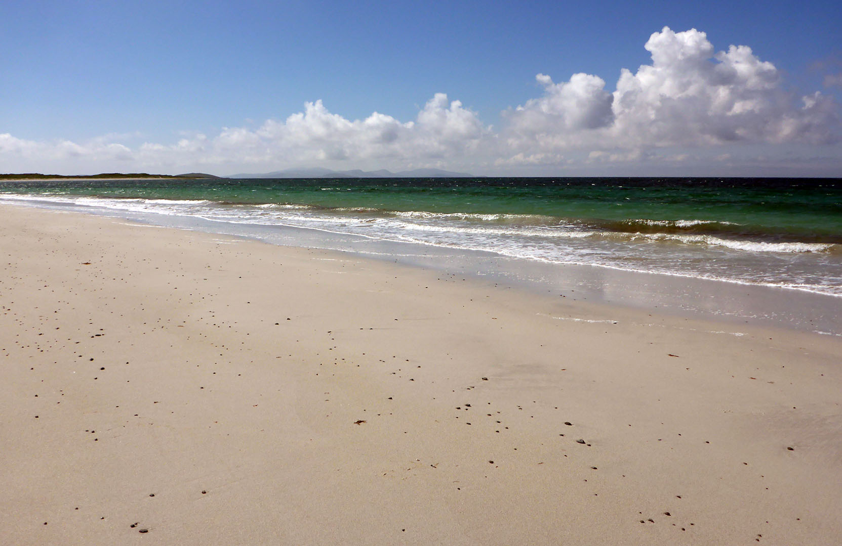 3 Beach at Daliburgh, Barra in distance